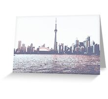 Red and Blue Toronto Symmetry Greeting Card