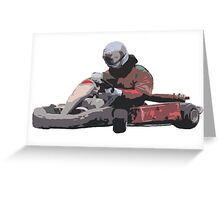Karting Greeting Card