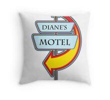 Diane's Motel campy truck stop tee  Throw Pillow