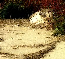 Bushel Basket in the Sand by Hope Ledebur