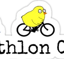 Triathlon Chick Sticker
