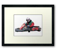 Go kart Framed Print