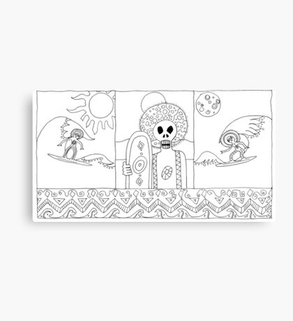 Surf zombies Canvas Print