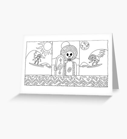 Surf zombies Greeting Card
