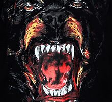 Rottweiler dog givenchy by Sounti