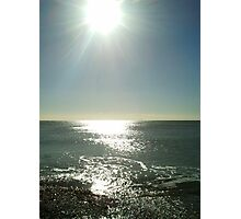 Sun over the sea Photographic Print