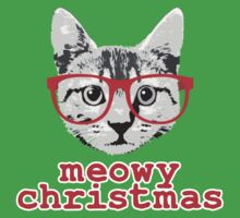 Funny Christmas - Meowy Christmas One Piece - Short Sleeve