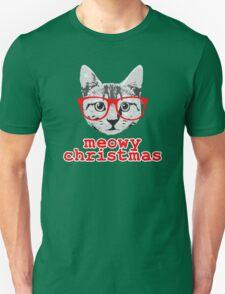 Funny Christmas - Meowy Christmas Unisex T-Shirt