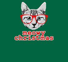 Funny Christmas - Meowy Christmas T-Shirt