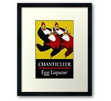 Funny chickens waiters, vintage egg liqueur ad Framed Print