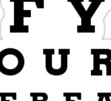 If youre reading this eye chart Sticker