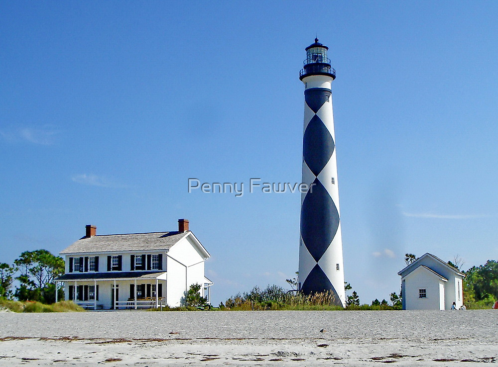 House and lighthouse by Penny Rinker