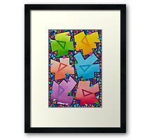 TRIANGLE FIESTA Framed Print