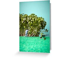 Cress garden Greeting Card