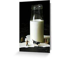 Spilt milk Greeting Card