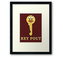 Key Pout Framed Print