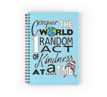 Acts of Kindness (white outline) Spiral Notebook