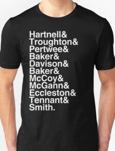 All Doctor - Hartnell to Smith, Whitout Hurt T-Shirt