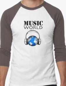 MUSIC WORLD Men's Baseball ¾ T-Shirt