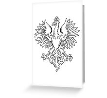 Coat of Arms of Poland, 1916-1918 Greeting Card