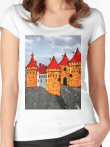 Mountain Eerie Castle T-shirt Women's Fitted Scoop T-Shirt