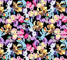 MLP Main Six Pattern by Black-Nocturne