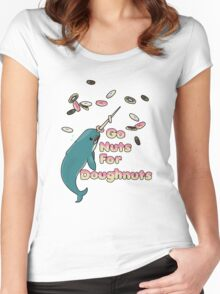 Go Nuts For Doughnuts Women's Fitted Scoop T-Shirt