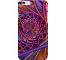 Autumn spiral, abstract fractal design iPhone Case/Skin