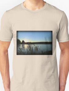Autumn Lake Sunset Unisex T-Shirt