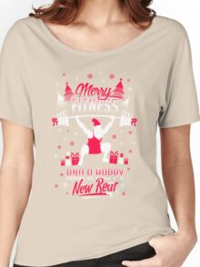 Merry Fitness !! Women's Relaxed Fit T-Shirt