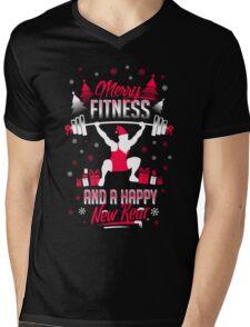 Merry Fitness !! Mens V-Neck T-Shirt