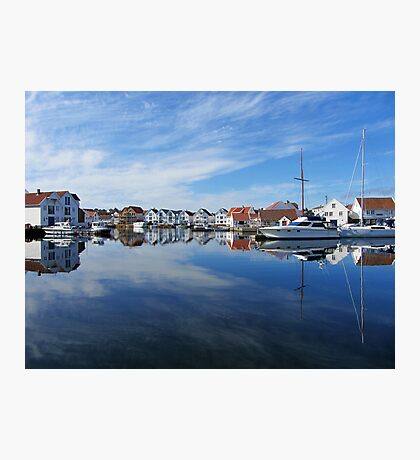 Water reflections in the harbour Photographic Print