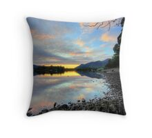 Sunset near Keswick Throw Pillow