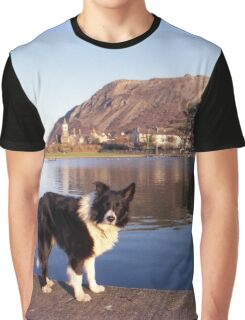 Indy at the boating pond Graphic T-Shirt