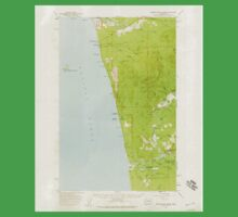 USGS Topo Map Washington State WA Destruction Island 240844 1956 62500 One Piece - Short Sleeve