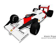 Alain Prost - McLaren Honda MP4/4 by JageOwen