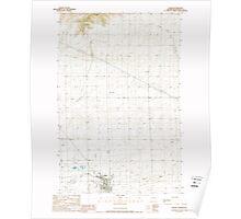 USGS Topo Map Washington State WA Wilbur 244694 1989 24000 Poster