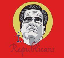 I LOVE REPUBLICANS T-shirt  One Piece - Short Sleeve