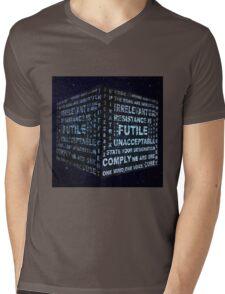 Borg Cube Mens V-Neck T-Shirt