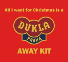 Dukla Prague Away Kit One Piece - Long Sleeve