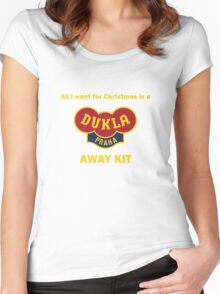 Dukla Prague Away Kit Women's Fitted Scoop T-Shirt