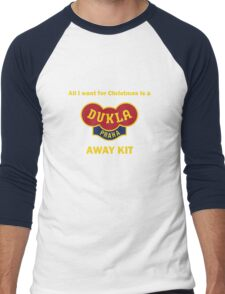Dukla Prague Away Kit Men's Baseball ¾ T-Shirt