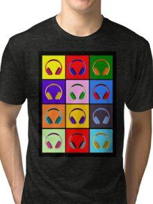 Pop Art Headphones Tri-blend T-Shirt