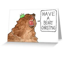 Beary Christmas Greeting Card