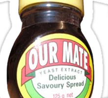 love marmite hait racism Sticker