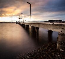 Belmont Warf at Sunset #2 by Daniel Rankmore