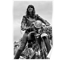 Girl on a Motorcycle Poster