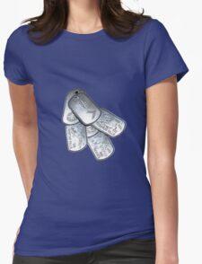 battlefield dogtags Womens Fitted T-Shirt