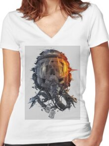 battlefield death pilot Women's Fitted V-Neck T-Shirt