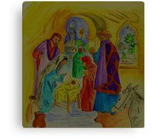 The Wise Men Visit Jesus the Christ Canvas Print